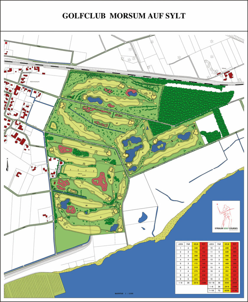 Golfclub Morsum Anlageplan